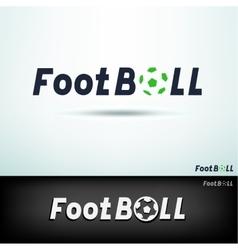 simple football logo vector image vector image