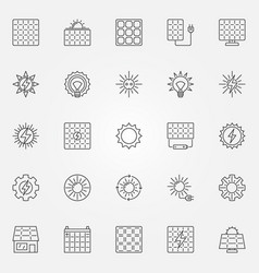 solar energy icons set vector image vector image