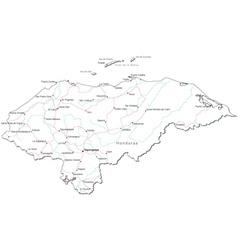 Honduras black white map vector