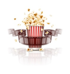 Jumping popcorn and vector image