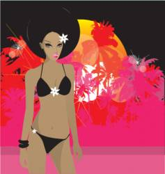 tropical princess vector image vector image