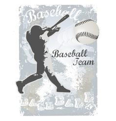 base ball grunge 4 vector image vector image