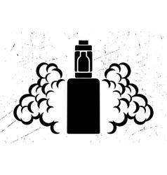 black emblem of the electronic cigarette vector image vector image