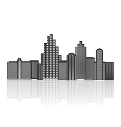 Black silhouette of city vector image