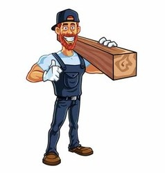 Carpenter Cartoon Mascot vector image