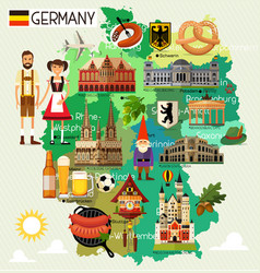 germany travel map vector image