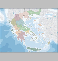 map of greece vector image