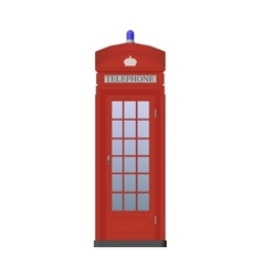 Red Phone Booth vector image vector image