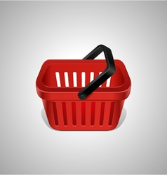 Red shopping basket icon vector image vector image