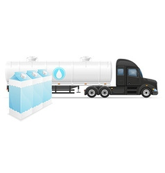 semi truck trailer concept 06 vector image vector image