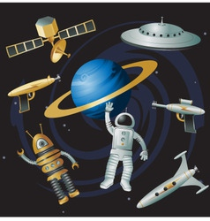 space junk vector image