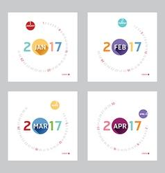 2017 Calendar Calendar Design vector image