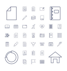 37 page icons vector