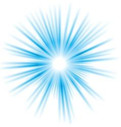 Abstract blue shiny sun design vector image