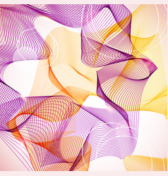 Abstract violet and orange guilloche background vector