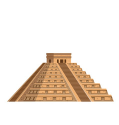 ancient mayan pyramid icon vector image