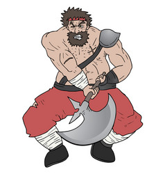 attack barbarian vector image