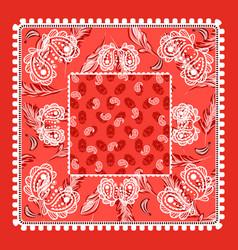 bandana red paisley design vector image