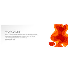 banner with red gradient shapes vector image