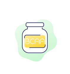 Bcaa amino acids gym supplements icon vector
