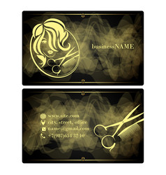 beauty salon for women visit card vector image