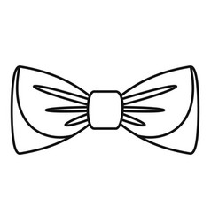 bow tie icon outline style vector image