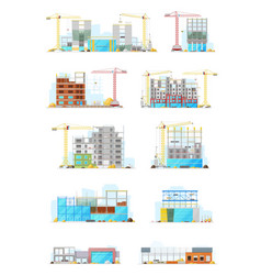 building construction sites store or warehouse vector image