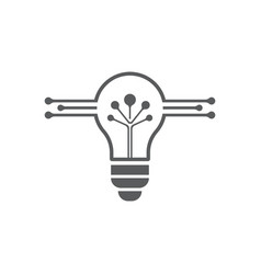 Bulb logo and symbol ilustration template vector