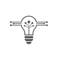 Bulb logo and symbol template vector