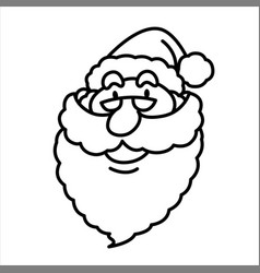 cartoon smiling santa claus face vector image