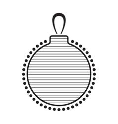 Christmas Ball Black And White Icon vector image