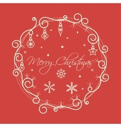 Christmas Frame Card vector image