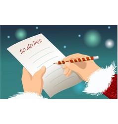 Christmas to do list vector