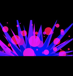 Circles night neon abstract background eighties vector