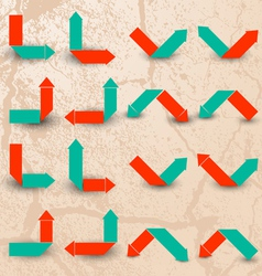Collection of the color arrows vector image