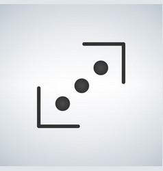 connection black icon vector image
