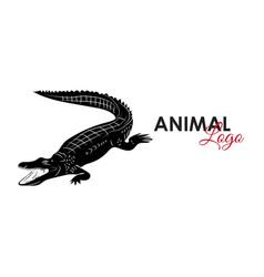 crocodile alligator icon logo symbol vector image