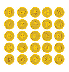 crypto currency icon flat style vector image