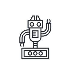 Cute line robot vector