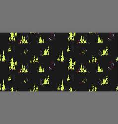 dark seamless pattern fairy forest with owls and vector image