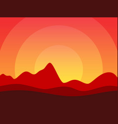 desert of america or africa with vector image