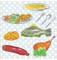 Dinner sketch vector