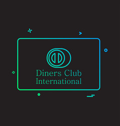 Dinners club international card icon design vector