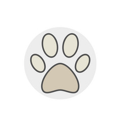 Dog or cat paw icon vector
