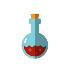 flat magic bottle potion vector image