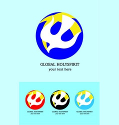 Global Holyspirit logo vector image