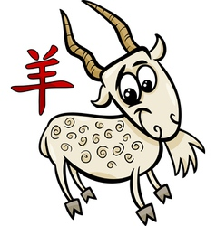 goat chinese zodiac horoscope sign vector image