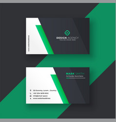 green business card design in minimal style vector image