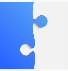Grey and blue piece puzzle jigsaw vector