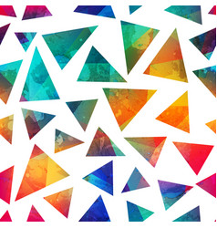 grunge triangle seamless pattern vector image